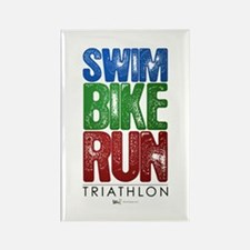 Swim, Bike, Run - Triathlon Rectangle Magnet