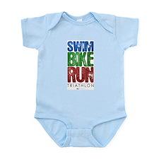 Swim, Bike, Run - Triathlon Infant Bodysuit