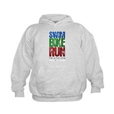 Swim, Bike, Run - Triathlon Hoodie