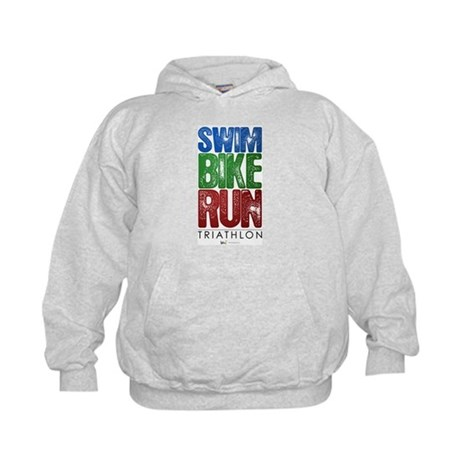 Swim, Bike, Run - Triathlon Kids Hoodie