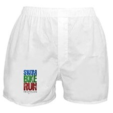 Swim, Bike, Run - Triathlon Boxer Shorts