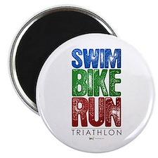 Swim, Bike, Run - Triathlon Magnet
