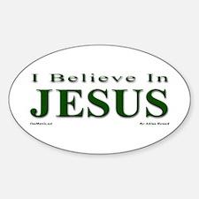 I Believe In Jesus Sticker (Oval)