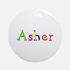 Asher Balloons Round Ornament