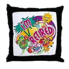 Tropical Retirement Throw Pillow