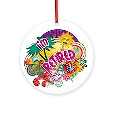 Tropical Retirement Ornament (Round)