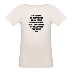 I'm Trying To See Things... Organic Baby T-Shirt