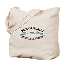 Indian Beach NC - Ligththouse Design Tote Bag