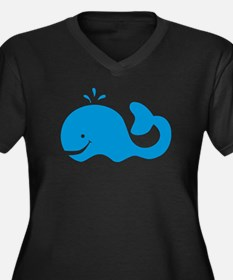 Whale Women's Plus Size V-Neck Dark T-Shirt
