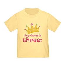 Princess Crown 3rd Birthday T