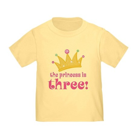 Princess Crown 3rd Birthday Toddler T-Shirt