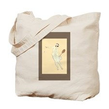 Art Deco Tennis Girl - Tote Bag