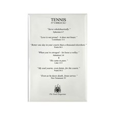 Biblical Tennis Quotes - Fridge Magnet