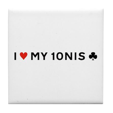 I Love My Tennis Club - Tile Coaster