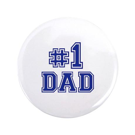 """No.1 Dad 3.5"""" Button"""