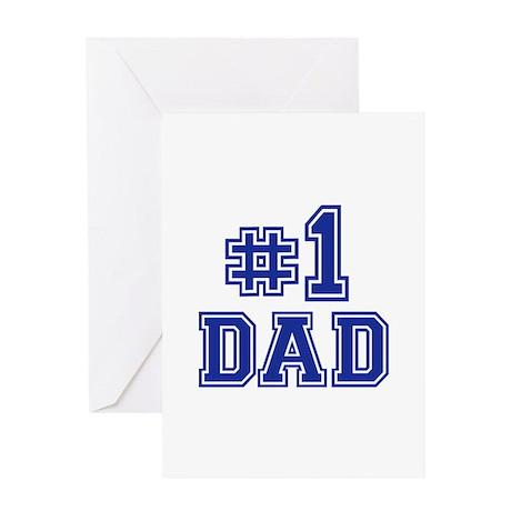No.1 Dad Greeting Card