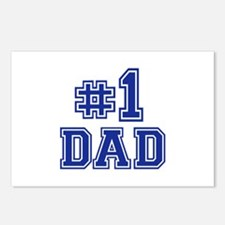No.1 Dad Postcards (Package of 8)