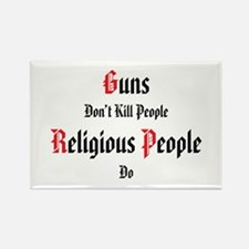 guns don't kill people Rectangle Magnet