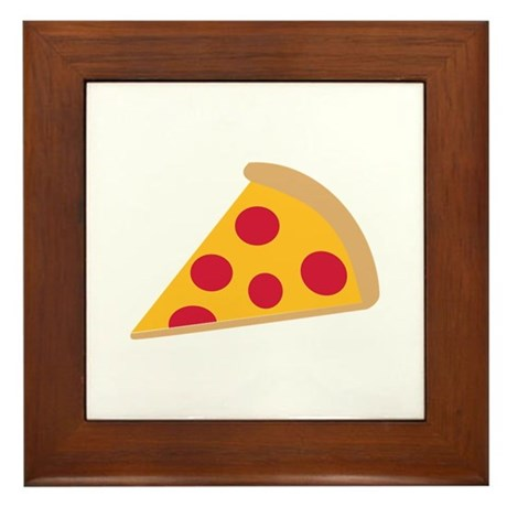 Pizza Framed Tile