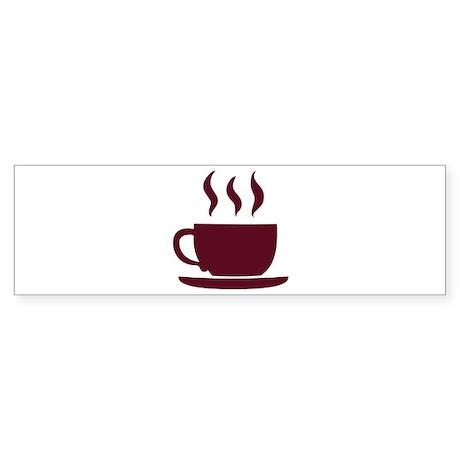 Cup of coffee Sticker (Bumper)