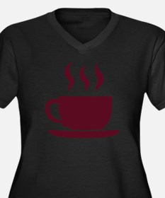 Cup of coffee Women's Plus Size V-Neck Dark T-Shir