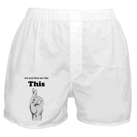 me and God Boxer Shorts