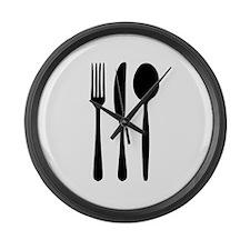Cutlery - Fork - Knife - Spoon Large Wall Clock