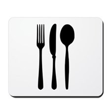 Cutlery - Fork - Knife - Spoon Mousepad
