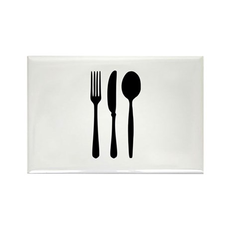 Cutlery - Fork - Knife - Spoon Rectangle Magnet (1