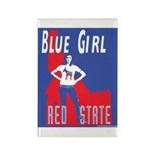 Blue Girl, Red State (Idaho) Rectangle Magnet