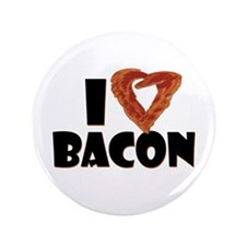 """I Heart Bacon 3.5"""" Button (100 pack)"""