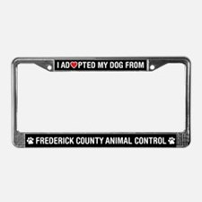 Frederick County AnimalControl License Plate Frame