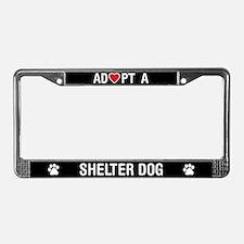 Adopt a Shelter Dog License Plate Frame