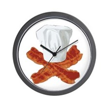 Bacon Chef Wall Clock