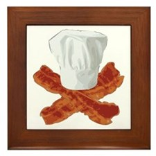 Bacon Chef Framed Tile
