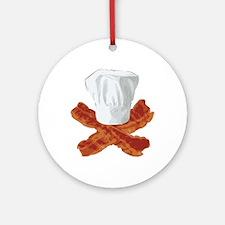 Bacon Chef Round Ornament