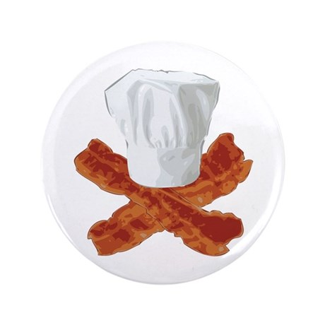 "Bacon Chef 3.5"" Button (100 pack)"