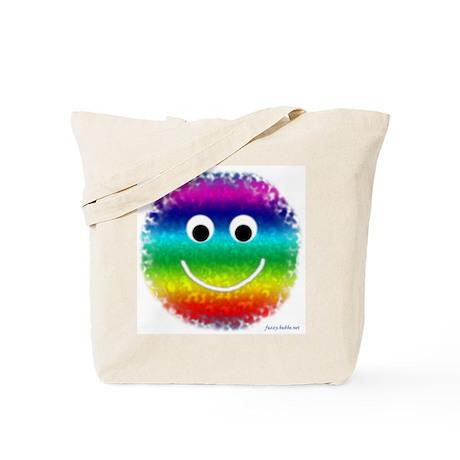"""Rainbow Fuzzy"" Tote Bag"