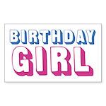 Birthday Girl Sticker (Rectangle 50 pk)