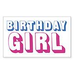 Birthday Girl Sticker (Rectangle)