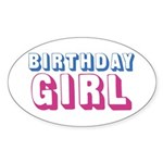 Birthday Girl Sticker (Oval 50 pk)