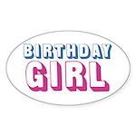 Birthday Girl Sticker (Oval 10 pk)