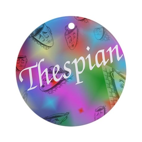 Thespian Ornament (Round)
