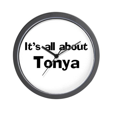 It's all about Tonya Wall Clock