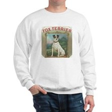 Fox Terrier antique label Sweatshirt