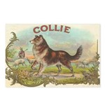 Collie antique label Postcards (Package of 8)