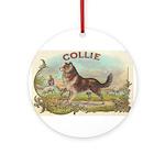 Collie antique label Ornament (Round)