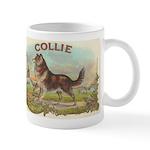 Collie antique label Mug