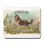 Collie antique label Mousepad