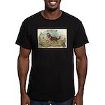 Collie antique label Men's Fitted T-Shirt (dark)